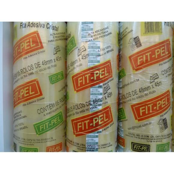 FITA ADESIVA FIT- PEL 48X45 CRISTAL C/5